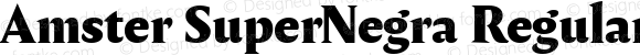 Amster SuperNegra Regular Version 1.000;PS 001.000;hotconv 1.0.70;makeotf.lib2.5.58329