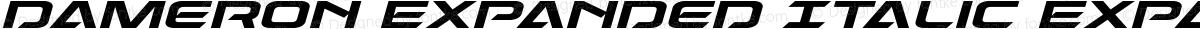 Dameron Expanded Italic Expanded Italic