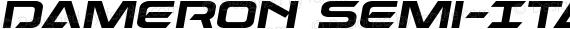 Dameron Semi-Italic Semi-Italic preview image