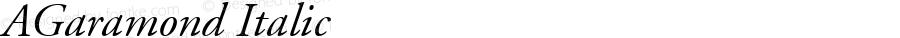 AGaramond Italic Macromedia Fontographer 4.1.3 12/9/03