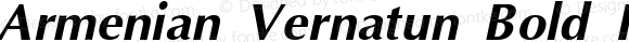Armenian Vernatun Bold Italic Version 2.9; 1996
