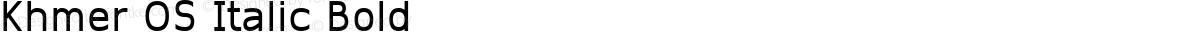 Khmer OS Italic Bold