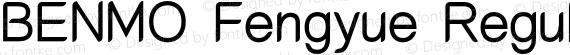 BENMO Fengyue Regular Regular preview image