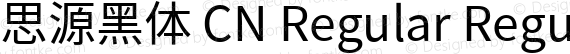 思源黑体 CN Regular Regular preview image