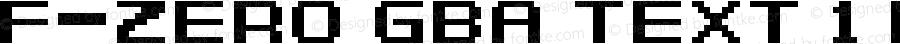 F-Zero GBA Text 1 Regular Version 1.0