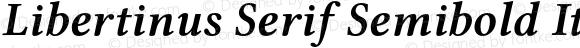 Libertinus Serif Semibold Italic