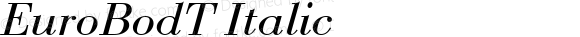 EuroBodT Italic Version 001.005
