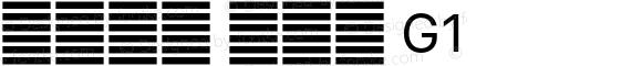 系统字体 常规体 G1 11.0d60e1