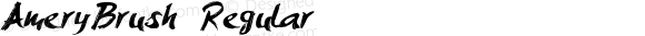 AmeryBrush Regular Version 1.00 March 15, 2016, initial release