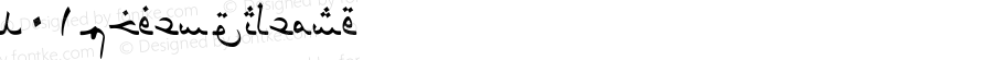 N01Lotus Regular Altsys Fontographer 4.0 9/14/77
