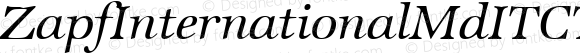 ZapfInternationalMdITCTT Italic Version 1.00
