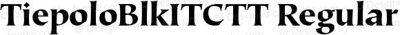 TiepoloBlkITCTT Regular Version 1.00