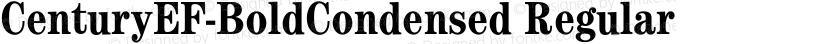 CenturyEF-BoldCondensed Regular Preview Image