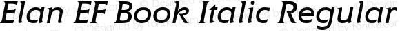 Elan EF Book Italic Regular Macromedia Fontographer 4.1 09.06.2001