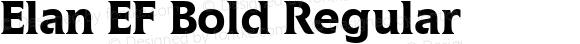 Elan EF Bold Regular Macromedia Fontographer 4.1 09.06.2001