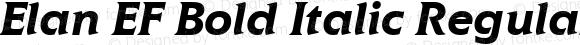 Elan EF Bold Italic Regular Macromedia Fontographer 4.1 09.06.2001