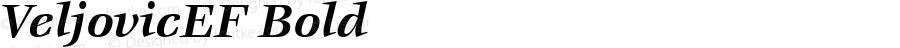 VeljovicEF Bold OTF 1.000;PS 001.000;Core 1.0.29