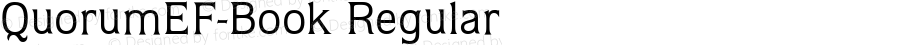 QuorumEF-Book Regular OTF 1.100;PS 001.001;Core 1.0.29