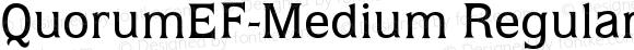 QuorumEF-Medium Regular OTF 1.100;PS 001.001;Core 1.0.29