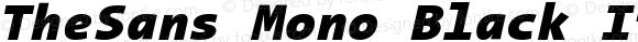TheSans Mono Black Italic 001.000