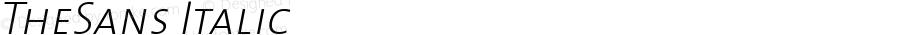 TheSans 2 ExtraLight Caps Italic