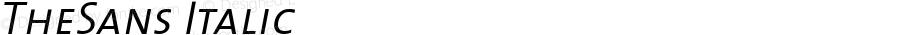 TheSans 4 SemiLight Caps Italic