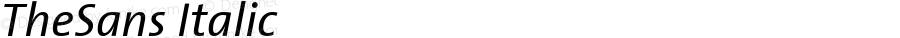 TheSans 5 Regular Italic