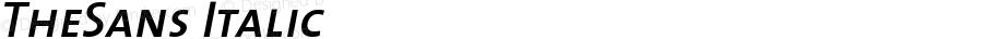 TheSans 6 SemiBold Caps Italic