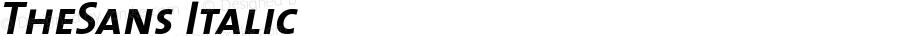 TheSans 7 Bold Caps Italic