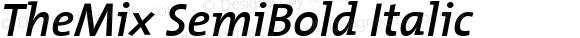 TheMix SemiBold Italic 1.0