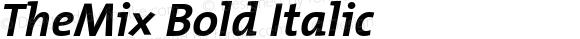 TheMix Bold Italic 1.0