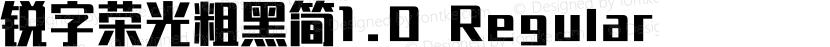 锐字荣光粗黑简1.0 Regular Preview Image