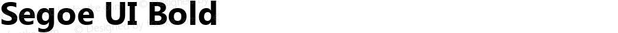 Segoe UI Bold Version 5.01