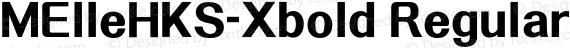 MElleHKS-Xbold Regular preview image