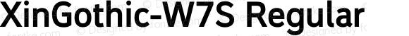 XinGothic-W7S Regular