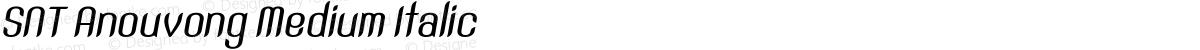 SNT Anouvong Medium Italic