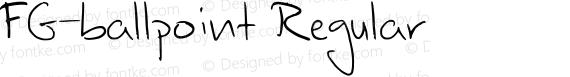 FG-ballpoint Regular preview image