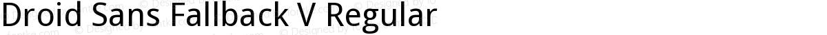 Droid Sans Fallback V Regular