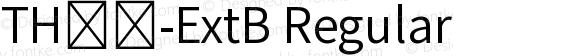 TH黑體-ExtB Regular