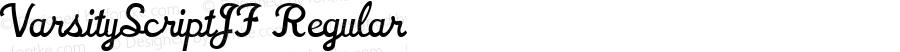 VarsityScriptJF Regular Macromedia Fontographer 4.1.4 3/19/03