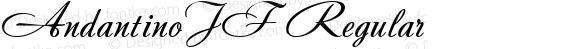 AndantinoJF Regular Macromedia Fontographer 4.1.4 9/1/03