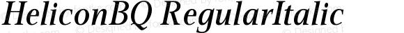 HeliconBQ RegularItalic