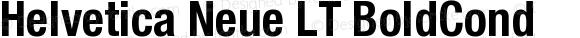 Helvetica Neue LT BoldCond