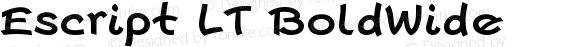 Escript LT BoldWide