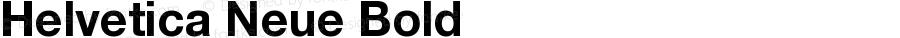 Helvetica Neue Bold Version 001.000
