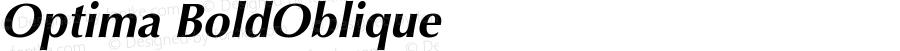 Optima CE Bold Oblique
