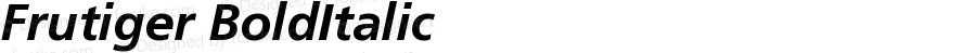 Frutiger CE 66 Bold Italic