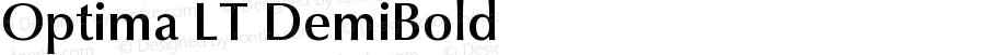 Optima LT DemiBold Version 006.000