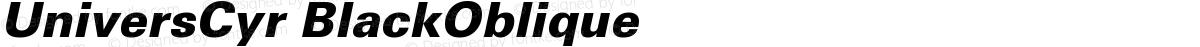 UniversCyr BlackOblique