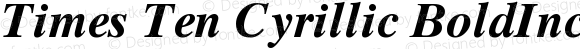 Times Ten Cyrillic BoldInclined Version 001.002